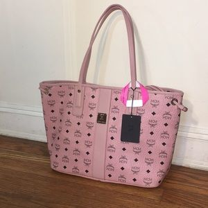 Mcm medium size shopper tote